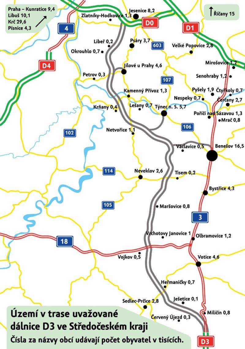 Trasa středočeské D3